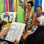Live caricatures with Imibala Trust