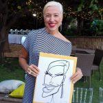 Live caricatures at Arabella