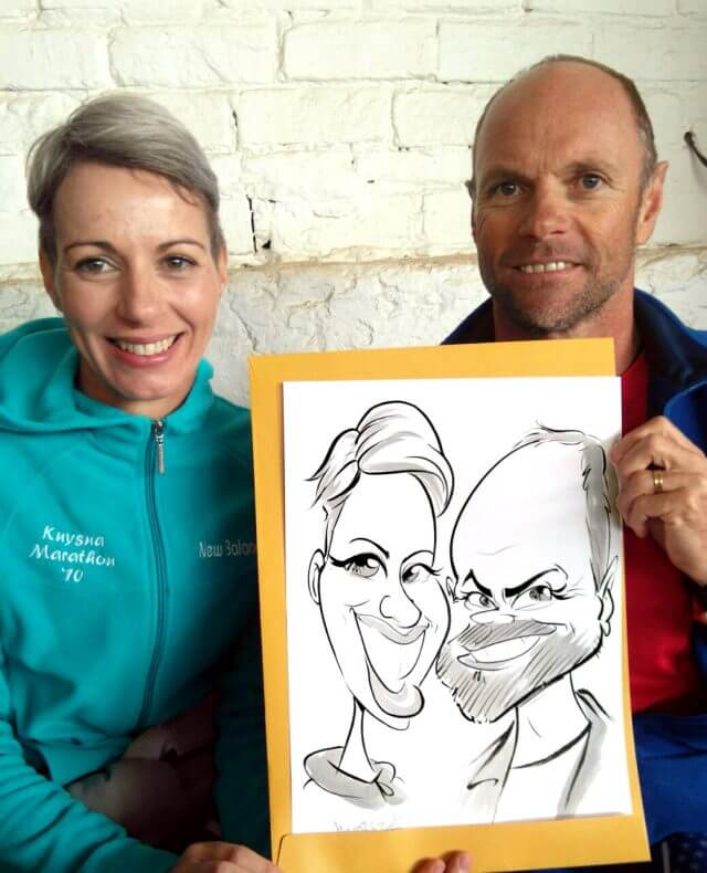 Martinus Illustration event caricatures Somerset West