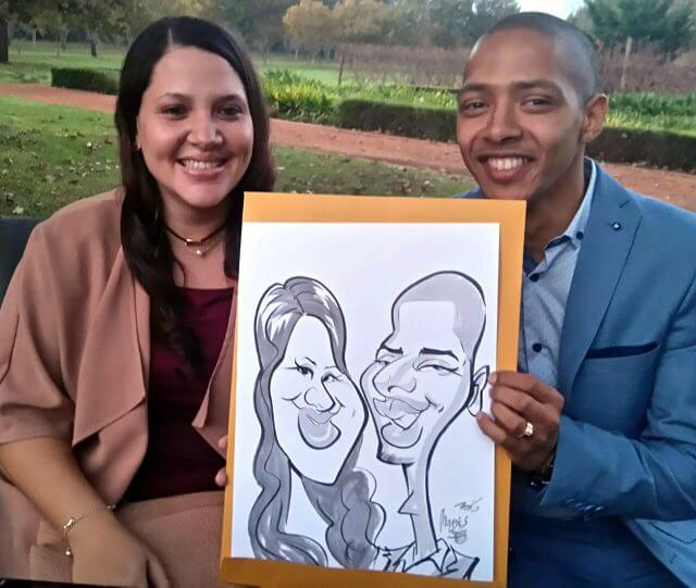 Martinus Illustration wedding entertainment caricatures Stellenbosch