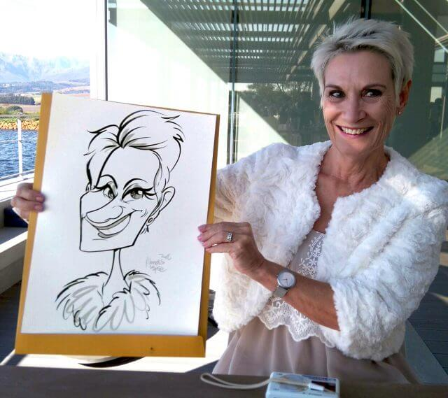 Martinus va Tee wedding caricatures Stellenbosch sketch artist