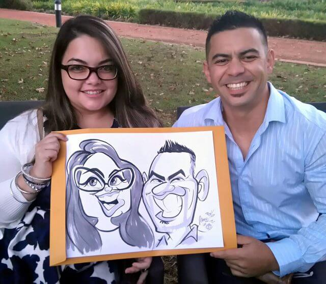 Martinus van Tee caricature artist live entertainment Vergelegen Somerset West