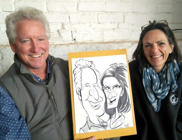 Martinus van Tee live event entertainment caricatures Lourensford Market Somerser West