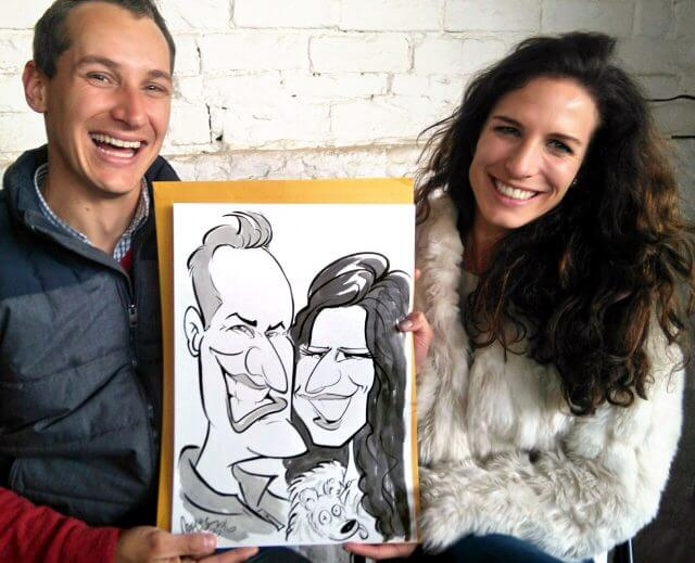 Martinus van Tee wedding caricature illustrations Cape Winelands
