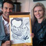 Live caricatures at Zorgvliet