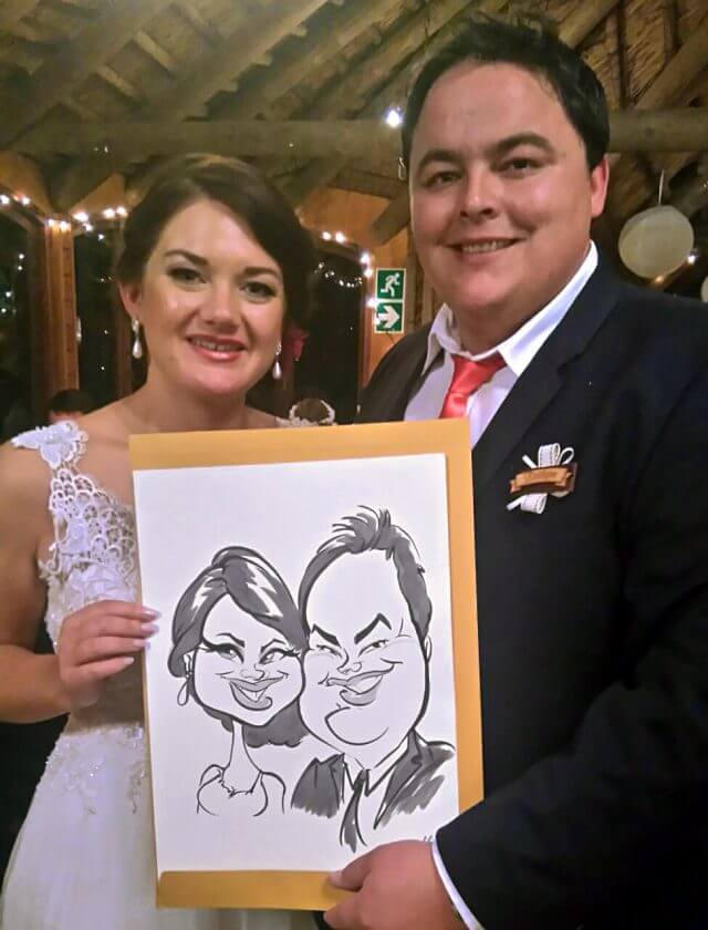 Wedding caricatures Cape Town Martinus van Tee