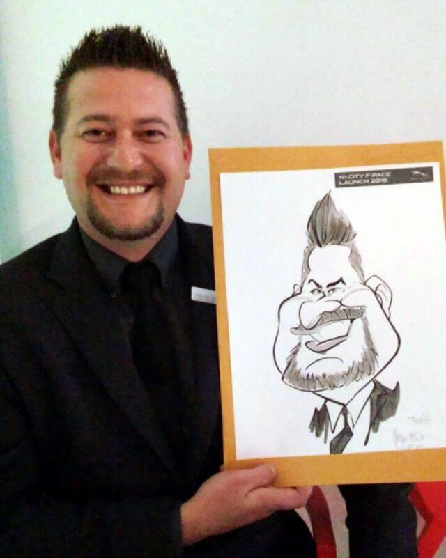 Martinus van Tee live entertainment caricatures Western Cape