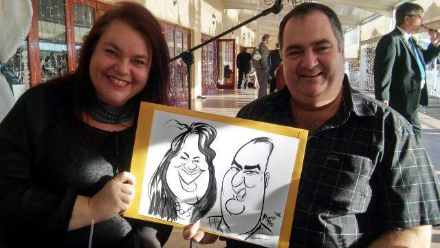 Martinus van Tee live event caricature sketches Stellenbosch