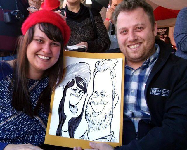Martinus van Tee live party caricature entertainment Stellenbosch