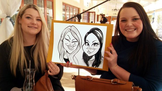 Martinus van Tee live wedding entertainment caricatures Paarl