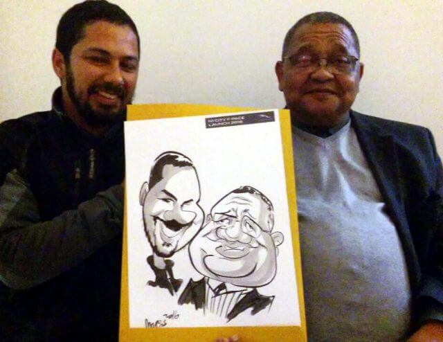 Martinus van Tee sketch artist event entertainment caricaturist Stellenbosch