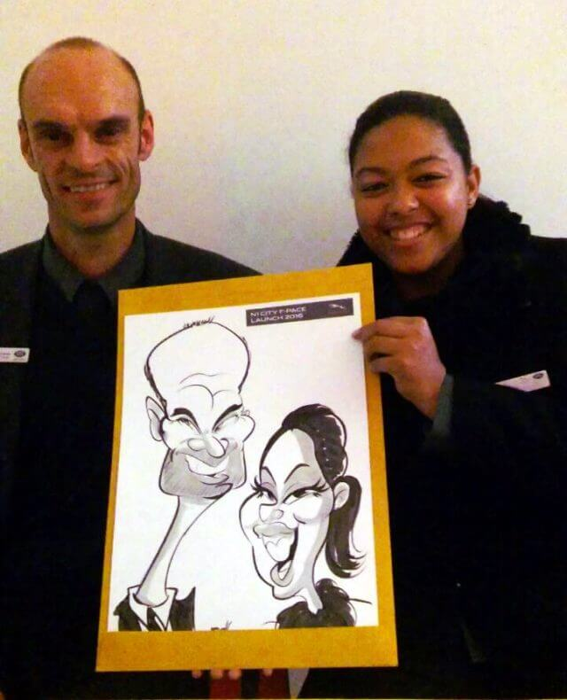 Martinus van Tee wedding and event caricatures Cape Town