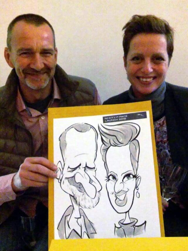Martinus van Tee wedding and party caricature entertainment Paarl