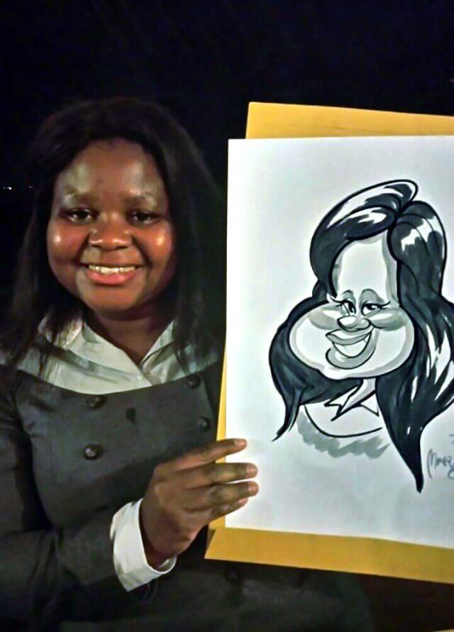 Live caricature sketch entertainment by Martinus van Tee Stellenbosch