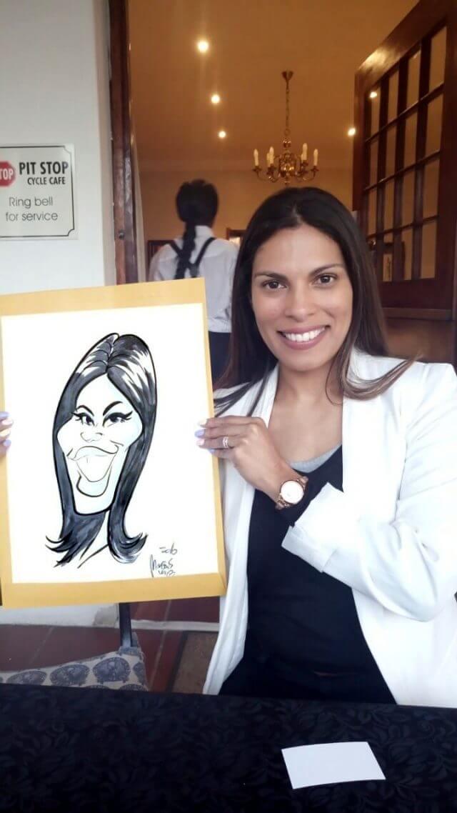 Live event caricature entertainment Vredenburg Manor by Martinus van Tee Cape Town