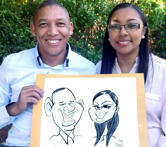 live-wedding-entertainment-caricature-poetraits-by-martinus-van-tee-franschhoek