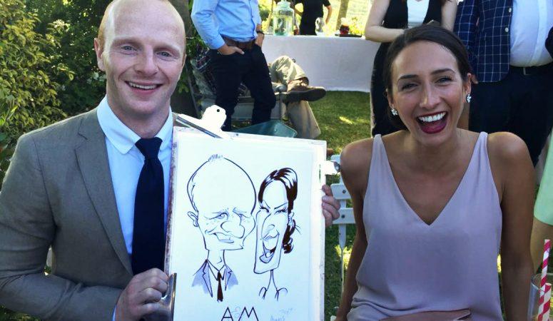 Elgin wedding caricatures