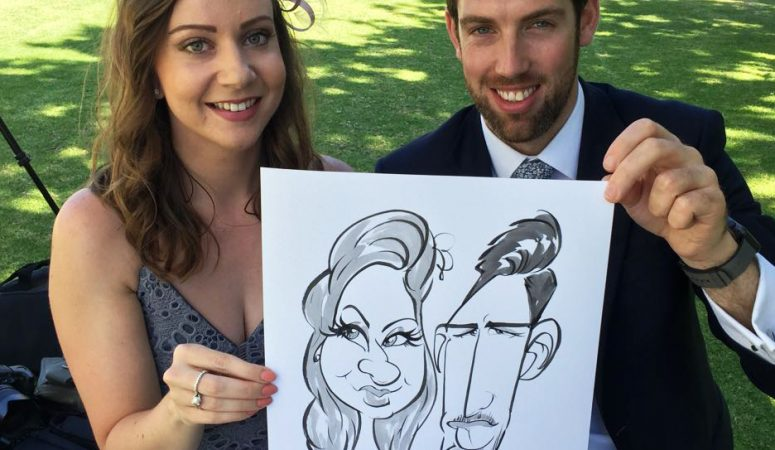 Rickety Bridge wedding caricatures