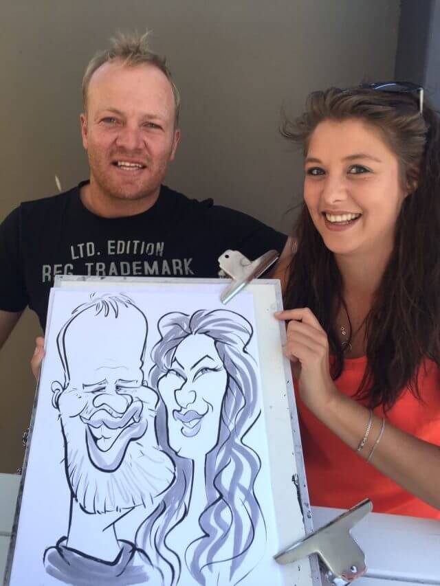 Cape Town caricaturist