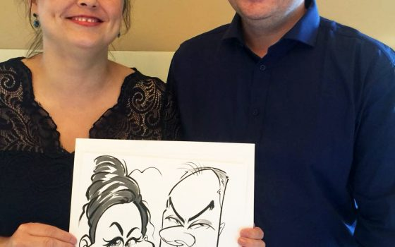 """One <span class=""""amp"""">&</span> Only wedding caricatures — Part 2"""