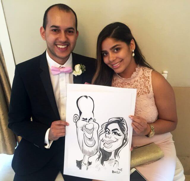 Wedding caricatur