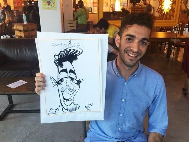 Cape Town event entertainment caricaturist