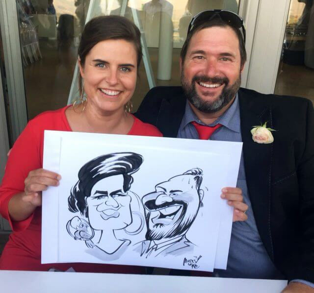 Wedding cartoon sketches Stellenbosch