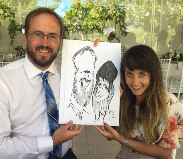 Somerset west live wedding caricatures