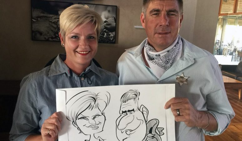 Paarl birthday party caricatures