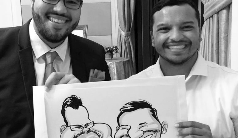 Cape Town wedding caricatures