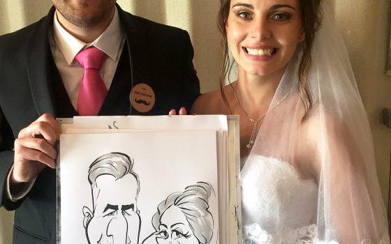Stellenbosch wedding caricatures
