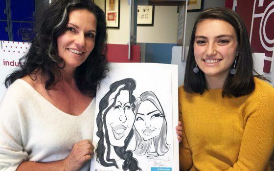 Vega School caricatures
