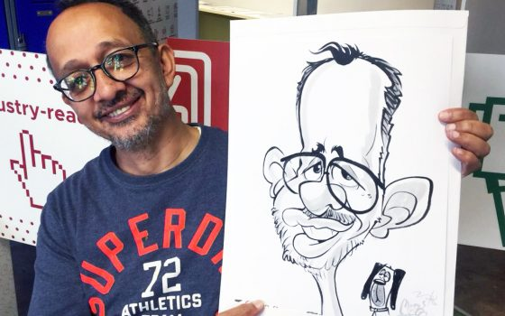Cape Town event caricatures