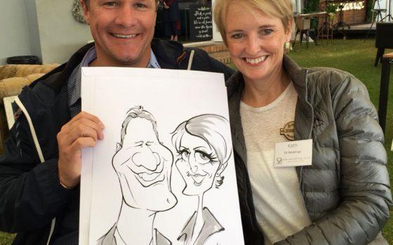 Overberg Wedding Fair caricatures — Part 2