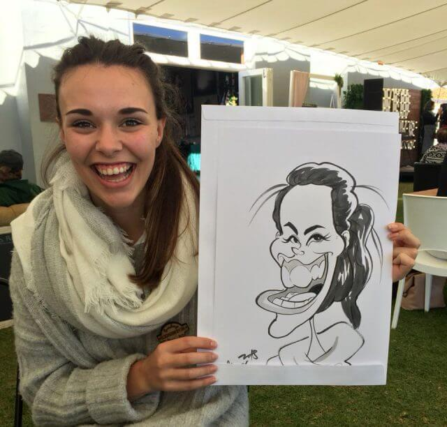 Wedding caricaturist Cape Town