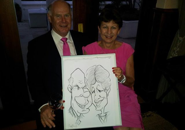 Some live caricatures from a recent wedding.