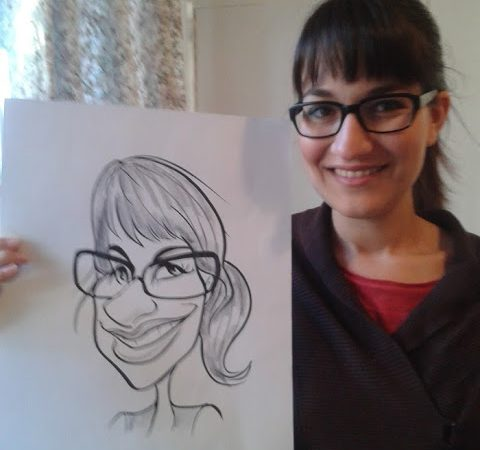 Sketching Caricatures at the Winelands Wedding and Bridal Fair