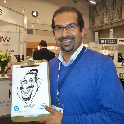 Recent caricature gigs at weddings and corporate events