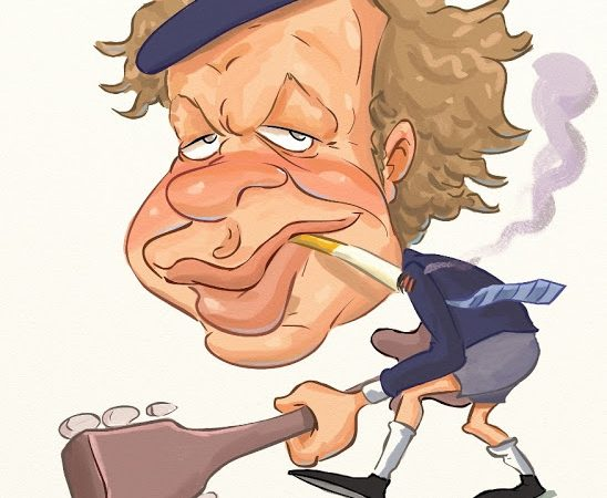 Angus Young AC/DC Caricature