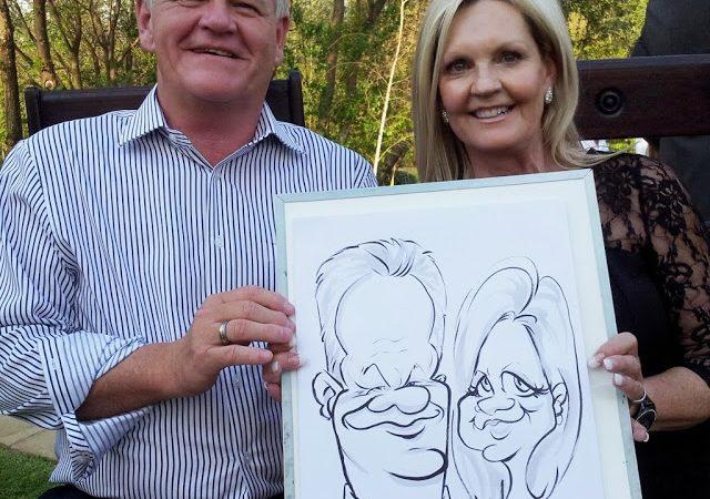 Wedding caricatures at Memoire,  Muldersdrift, Johannesburg