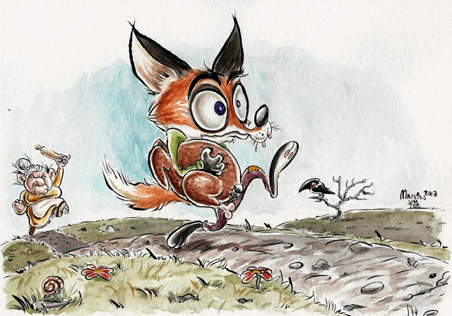 The getaway (A sneaky fox)