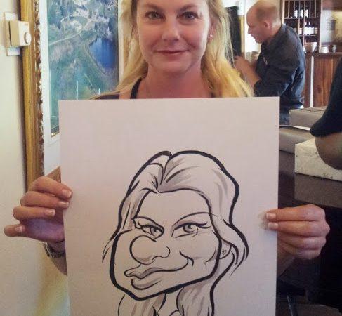 Live wedding caricatures at Botelarypad