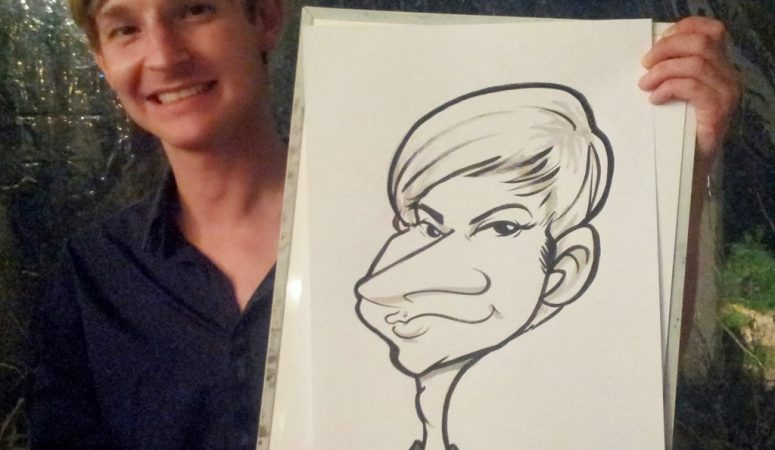 Caricature at Wedding at Glenshiel in Westcliffe