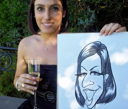 Caricatures at 12 Apostles