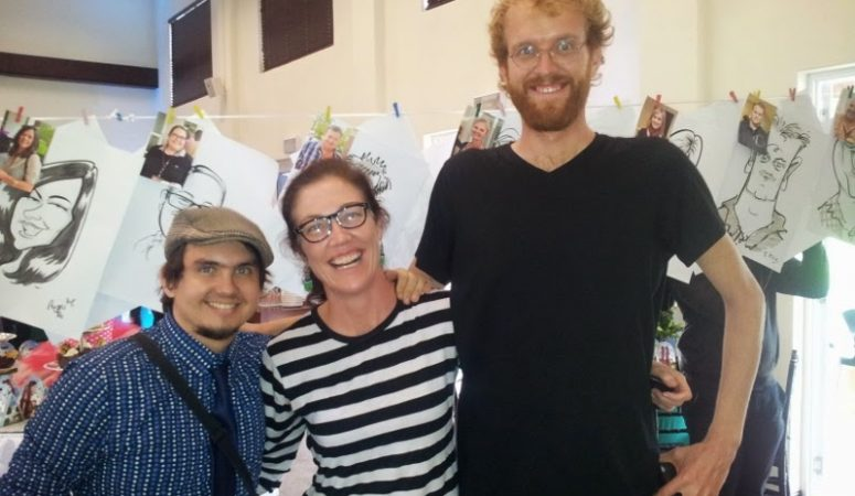 Live caricatures for Mugg and Bean at Kieviets Kroon Estate