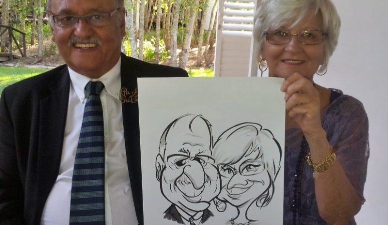 Cheri and Mark's wedding, D'Aria — Caricatures