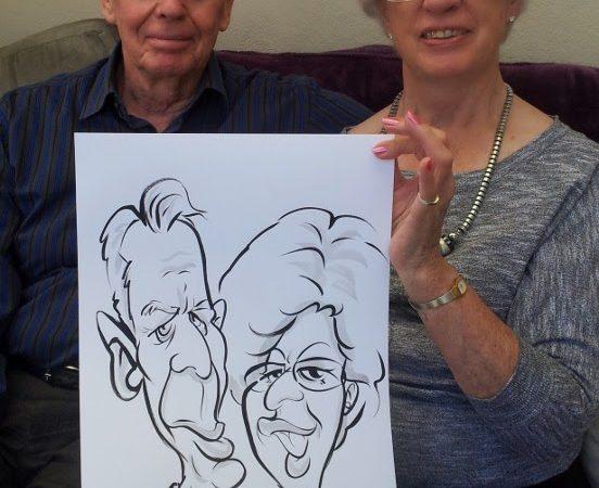 21st Birthday caricatures
