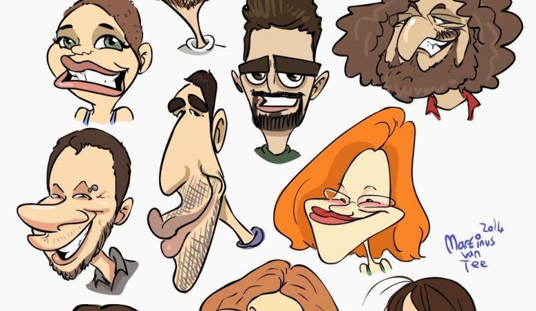 Friend caricatures-Hermanus