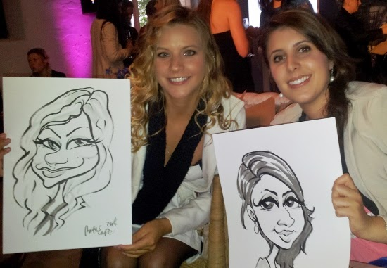 Little Pink Book wedding Industry Party, Hawksmoor House. Caricatures