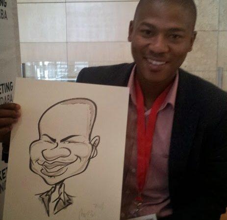 Caricature portraits at Marketing Indaba, CTICC
